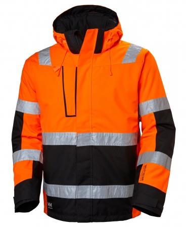 Geaca cu gluga Helly Hansen Alna Shell, reflectorizanta, HVC3, portocaliu/negru, fata