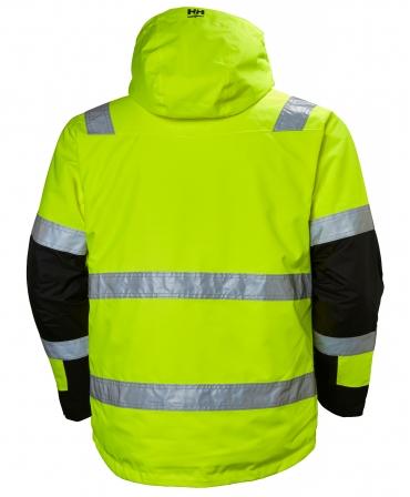 Geaca cu gluga Helly Hansen Alna Shell, reflectorizanta, HVC3, galben/negru, spate