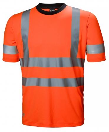 Tricou cu maneca scurta Helly Hansen Addvis, reflectorizant, HVC2, portocaliu, fata