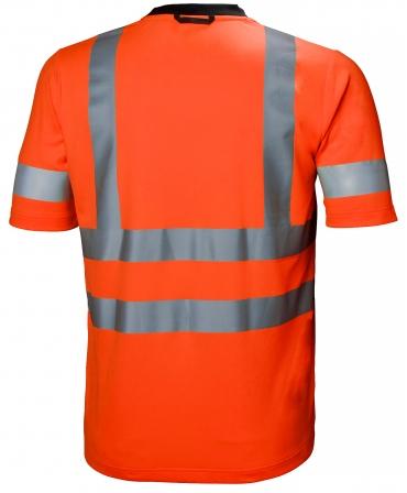 Tricou cu maneca scurta Helly Hansen Addvis, reflectorizant, HVC2, portocaliu, spate