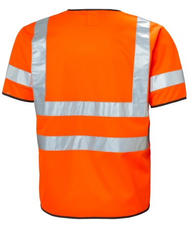 Vesta cu maneca scurta Helly Hansen Addvis Shortsleeve, reflectorizanta, HVC3, portocalie, spate