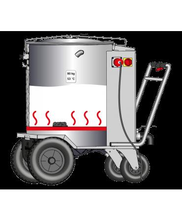 Milk Taxi pentru hranirea inteligenta a viteilor, functionare rezistenta incalzire