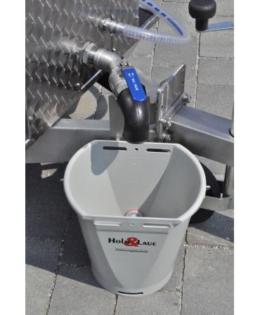 Milk Taxi pentru hranirea inteligenta a viteilor, detaliu robinet scurgere