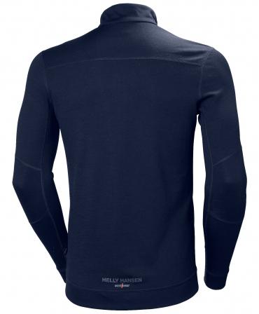 Bluza Helly Hansen Lifa Merino Half Zip, bleumarin, spate