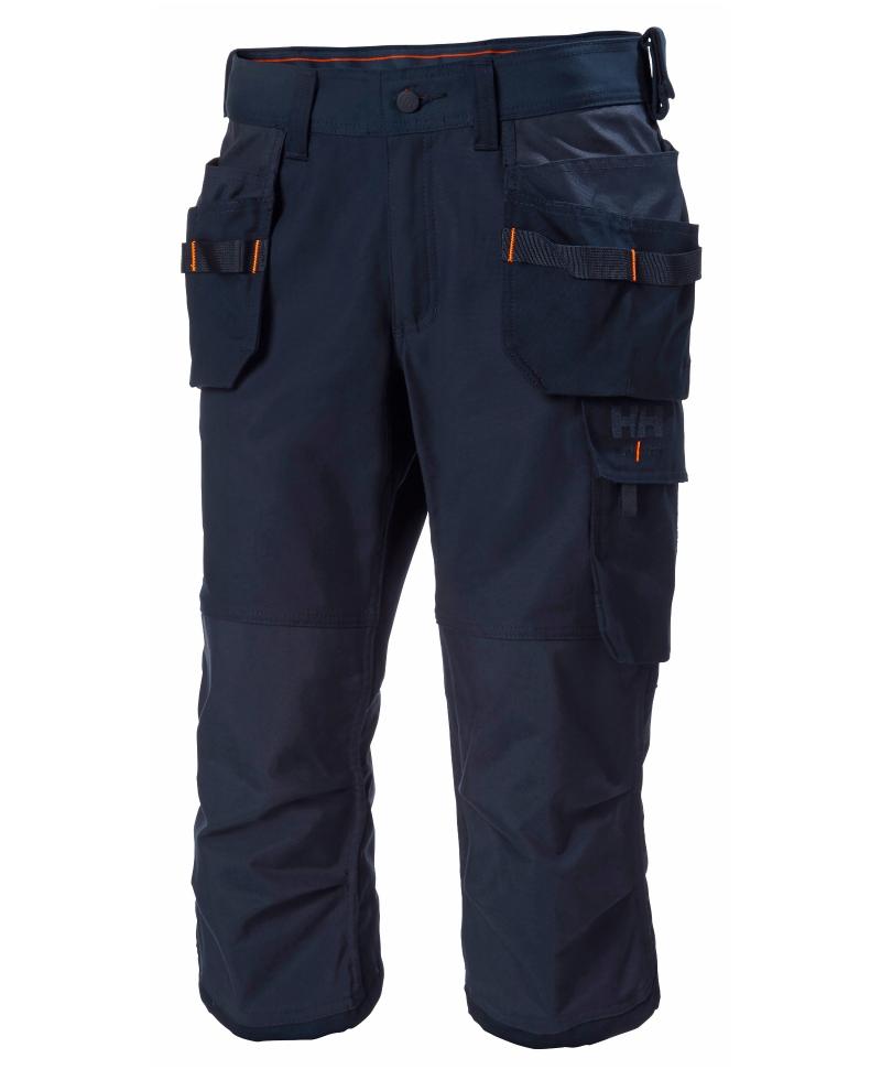 Pantaloni de lucru trei sferturi Helly Hansen Oxford Pirate, bleumarin, fata