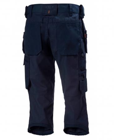 Pantaloni de lucru trei sferturi Helly Hansen Oxford Pirate, bleumarin, spate