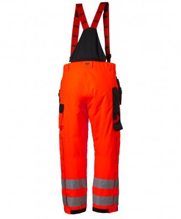Pantaloni de lucru Helly Hansen Alna Shell Construction, reflectorizanti, HVC2, rosu/negru, spate