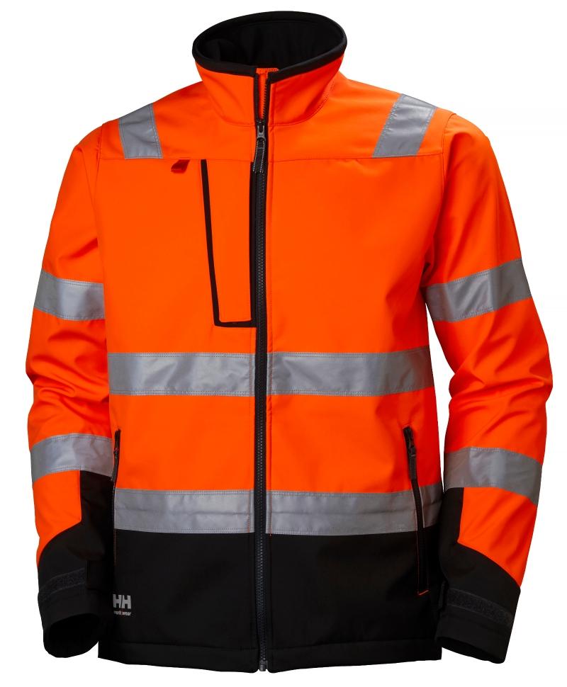 Jacheta Helly Hansen Alna Softshell, reflectorizanta, HVC2, 3, portocaliu/negru, fata