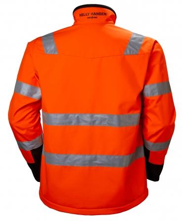 Jacheta Helly Hansen Alna Softshell, reflectorizanta, HVC2, 3, portocaliu/negru, spate