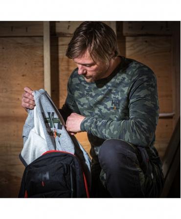 Rucsac Helly Hansen Workwear 27 litri, negru, aranjare obiecte in rucsac