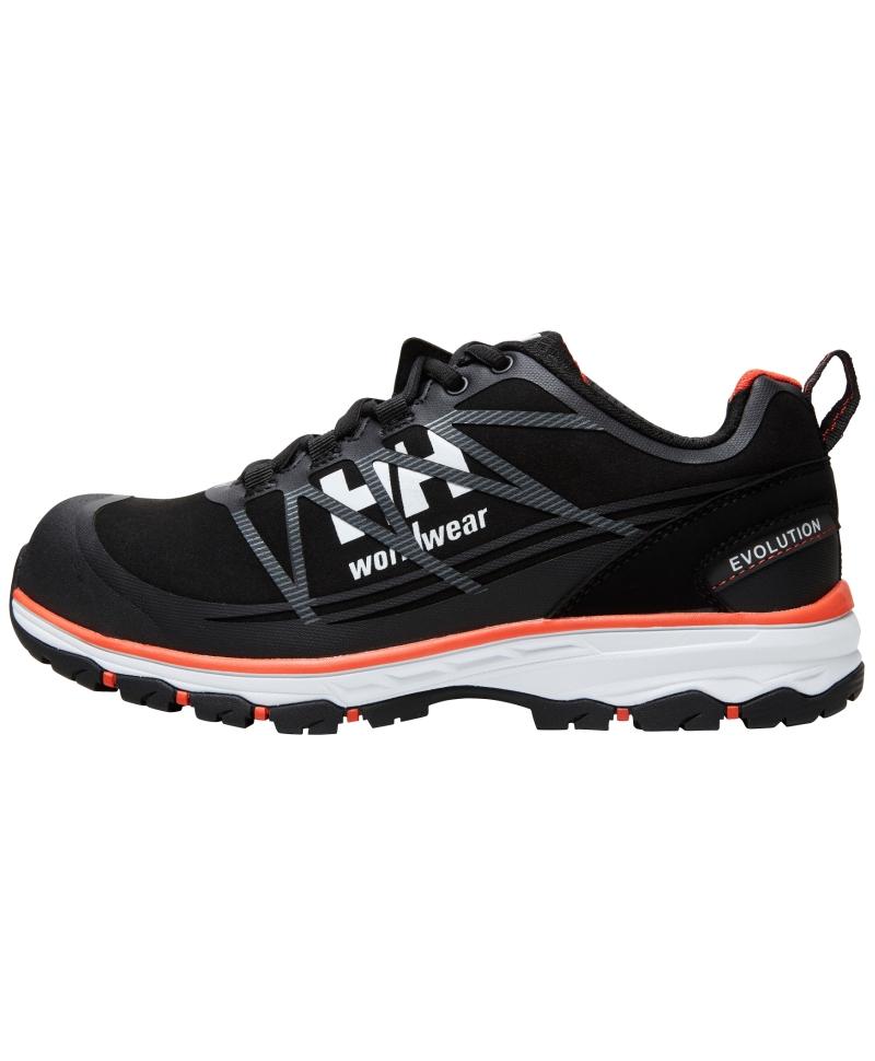 Pantofi protectie Helly Hansen Chelsea Evolution Low, S3, negru/portocaliu, din profil