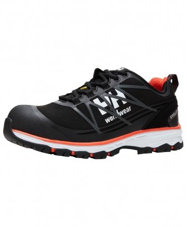 Pantofi protectie Helly Hansen Chelsea Evolution Low, S3, negru/portocaliu, din unghi