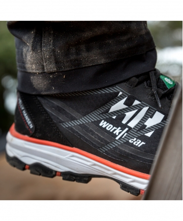 Pantofi protectie Helly Hansen Chelsea Evolution Low, S3, negru/portocaliu, in lucru, profil