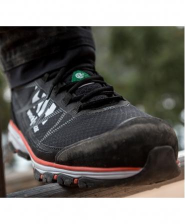 Pantofi protectie Helly Hansen Chelsea Evolution Low, S3, negru/portocaliu, la lucru, din fata