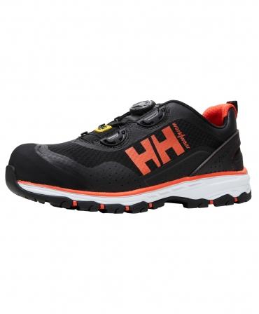 Pantofi protectie Helly Hansen Chelsea Evolution BOA, S1P, negru/portocaliu, din unghi