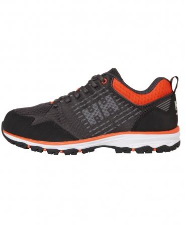 Pantofi protectie Helly Hansen Chelsea Evolution Soft Toe, O2, negru/portocaliu, din profil