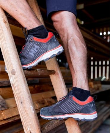 Pantofi protectie Helly Hansen Chelsea Evolution Soft Toe, O2, negru/portocaliu, incaltati, pe scara
