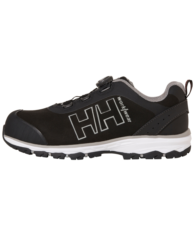 Pantofi protectie Helly Hansen Chelsea Evolution BOA Wide, S3, negru/gri, din profil