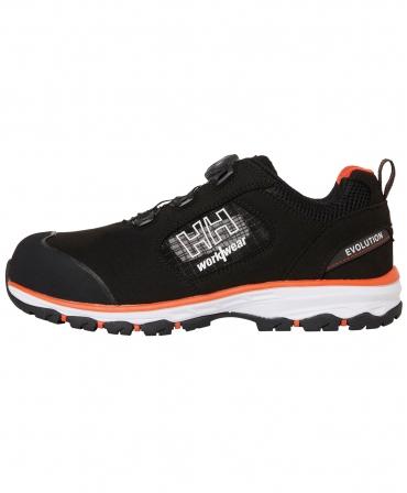 Pantofi protectie Helly Hansen Chelsea Evolution BOA Sandal, S1P, negru/portocaliu, din profil