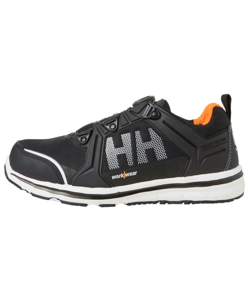 Pantofi protectie Helly Hansen Oslo Low BOA, S3, negru/portocaliu, din profil