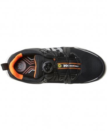 Pantofi protectie Helly Hansen Oslo Low BOA, S3, negru/portocaliu, vazuti de sus