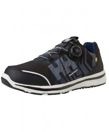 Pantofi protectie Helly Hansen Oslo Soft Toe BOA, O1, negru/albastru, din unghi
