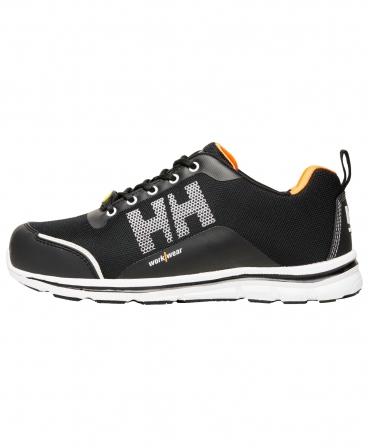 Pantofi protectie Helly Hansen Oslo Low, S1P, negru/portocaliu, din profil