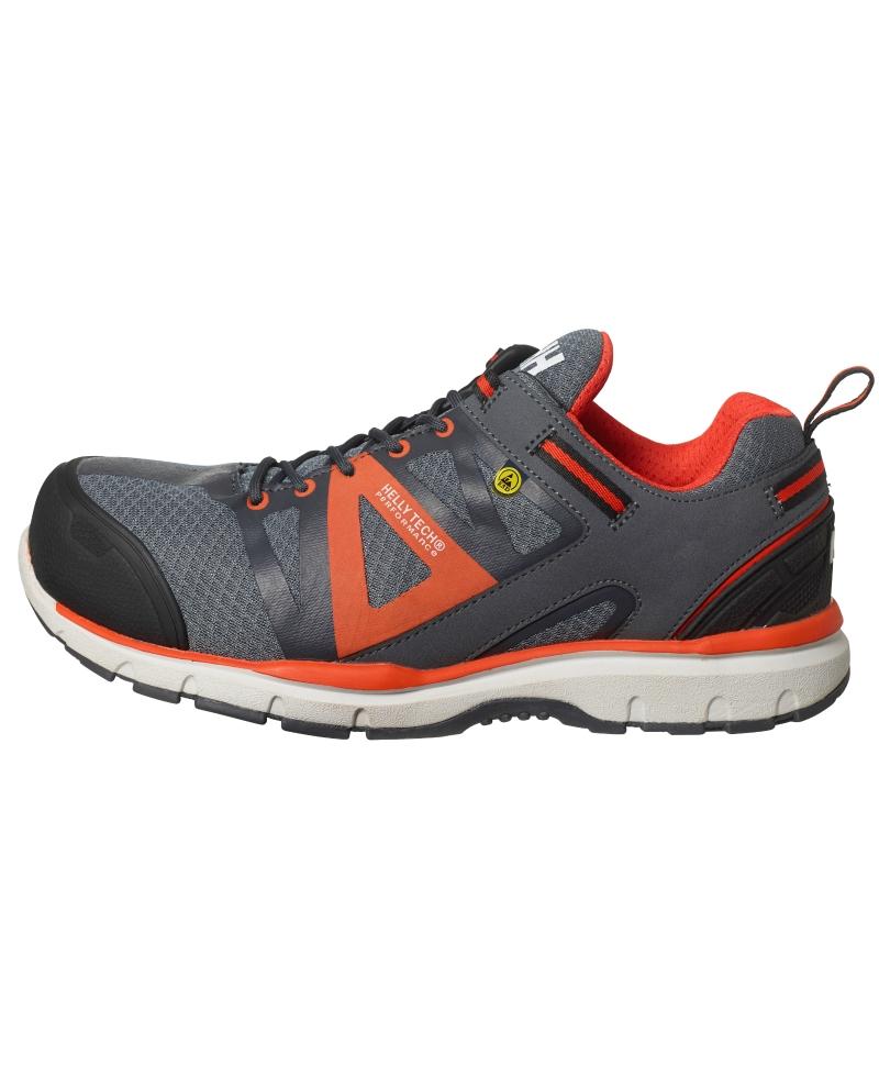 Pantofi protectie Helly Hansen Smestad Active, S3, gri/portocaliu, din profil