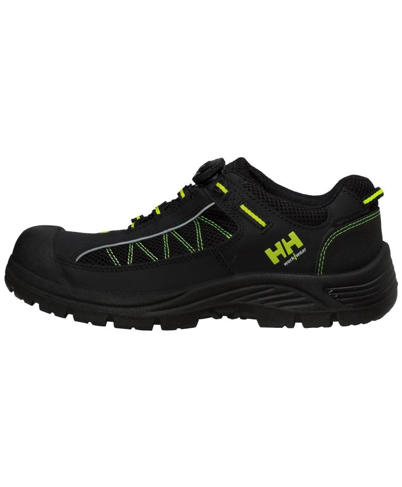 Pantofi protectie Helly Hansen Alna Mesh BOA, S3, negru/galben, din profil