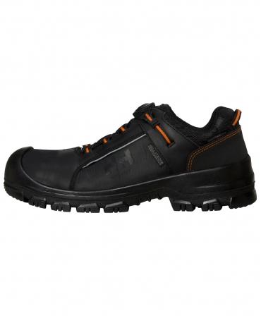 Pantofi protectie Helly Hansen Alna Leather BOA, S3, negru/portocaliu, din profil