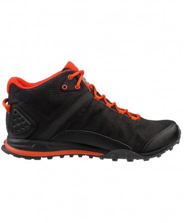 Ghete Helly Hansen Rabbora Trail Mid, negru/portocaliu, din lateral
