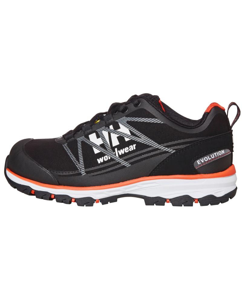Pantofi protectie dama Helly Hansen Luna Low, S3, negru/portocaliu, din profil