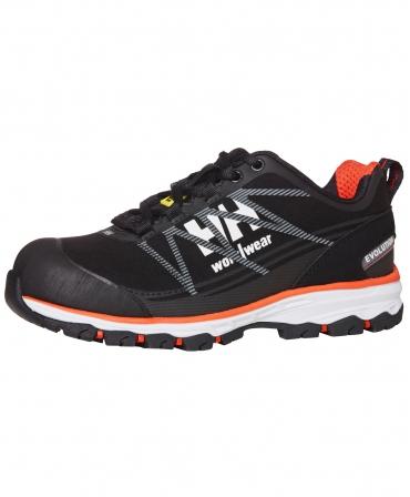 Pantofi protectie dama Helly Hansen Luna Low, S3, negru/portocaliu, din unghi