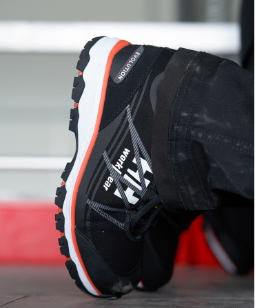 Pantofi protectie dama Helly Hansen Luna Low, S3, negru/portocaliu, incaltati, detalii pantofi