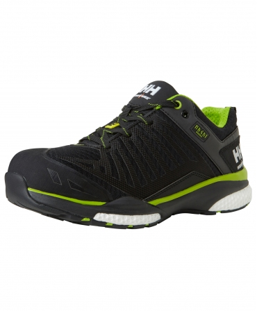 Pantofi protectie Helly Hansen Magni Low, S1P, negru/verde crud, din unghi
