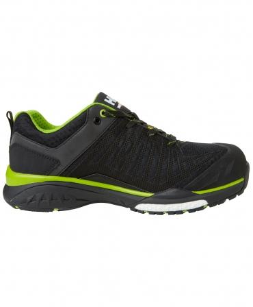 Pantofi protectie Helly Hansen Magni Low, S1P, negru/verde crud, din lateral