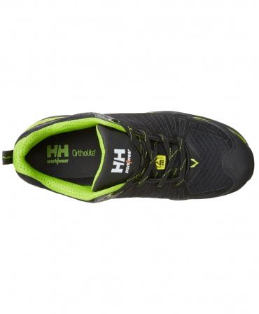 Pantofi protectie Helly Hansen Magni Low, S1P, negru/verde crud, vazuti de sus
