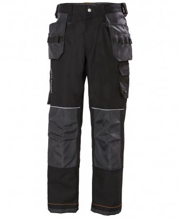 Pantaloni de lucru Helly Hansen Chelsea Construction, negru/gri inchis, fata