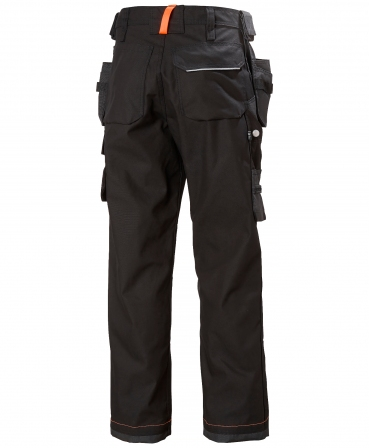 Pantaloni de lucru Helly Hansen Chelsea Construction, negru/gri inchis, spate