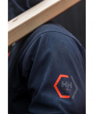 Jacheta cu gluga Helly Hansen Chelsea Evolution Softshell, impermeabila, evidentiere logo