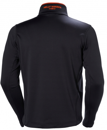 Bluza elastica Helly Hansen Chelsea Evolution Midlayer, neagra, spate