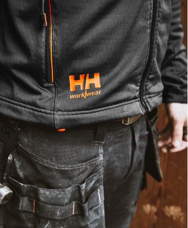 Bluza elastica Helly Hansen Chelsea Evolution Midlayer, neagra, detalii talie