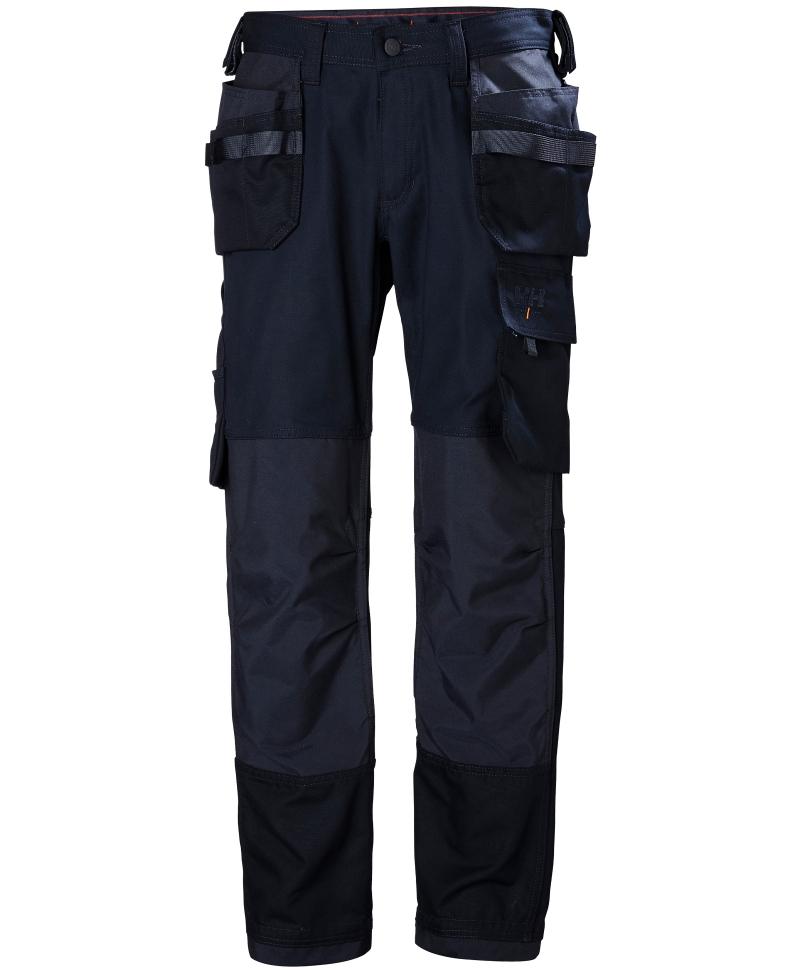 Pantaloni de lucru Helly Hansen Oxford Construction, bleumarin, fata