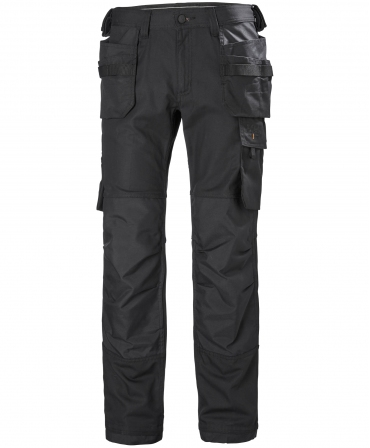 Pantaloni de lucru Helly Hansen Oxford Construction, negri, fata