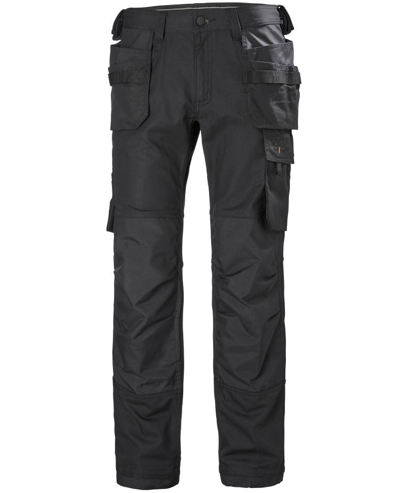 Pantaloni de lucru Helly Hansen Oxford Construction, negri, fata