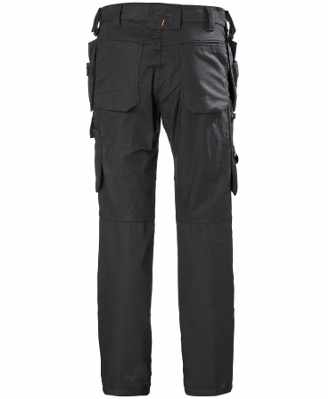 Pantaloni de lucru Helly Hansen Oxford Construction, negri, spate