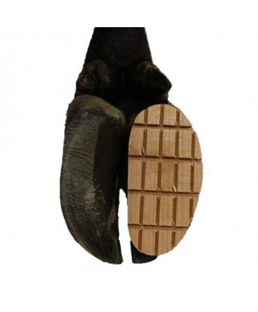 Sabot lemn pentru ongloane, Demotec aplicat pe copita