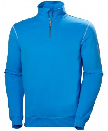 Bluza Helly Hansen Oxford Half Zip, albastra, fata