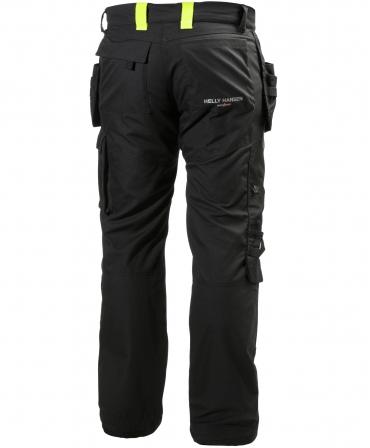 Pantaloni de lucru Helly Hansen Aker Construction, negru/gri inchis, spate
