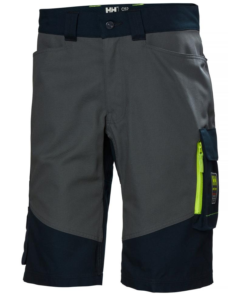 Pantaloni de lucru scurti Helly Hansen Aker, bleumarin/gri inchis, fata